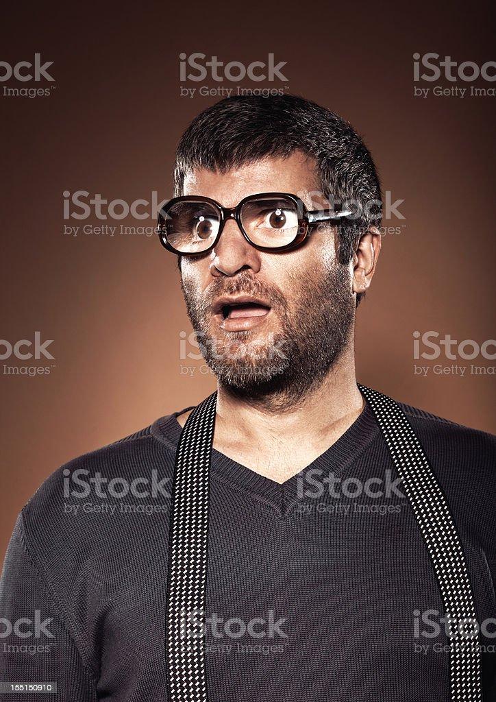 Funny male portrait stock photo