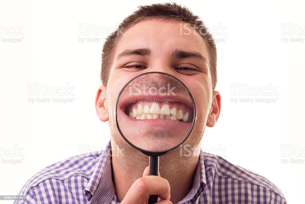 Funny man stock photo
