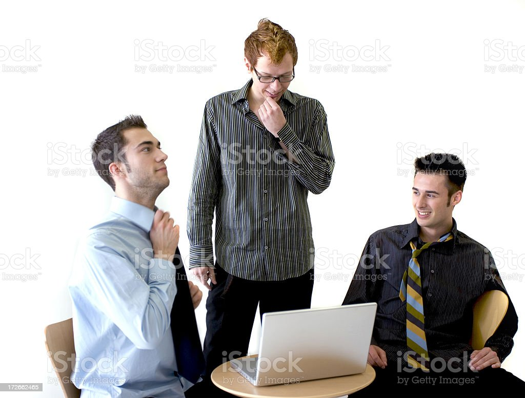 Funny Meeting stock photo