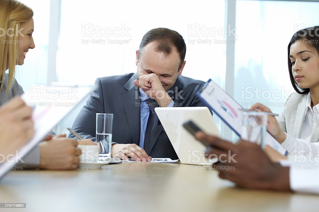 Funny meeting royalty-free stock photo