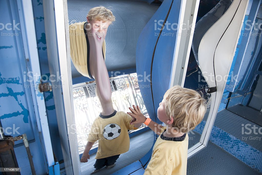 Funny mirror stock photo