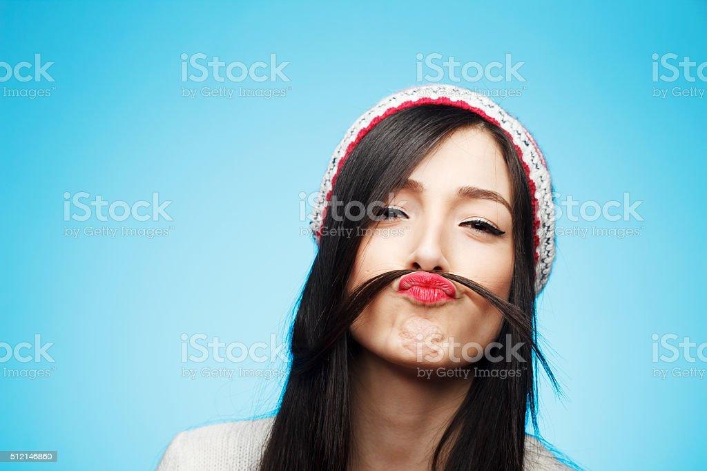 Funny moustache stock photo