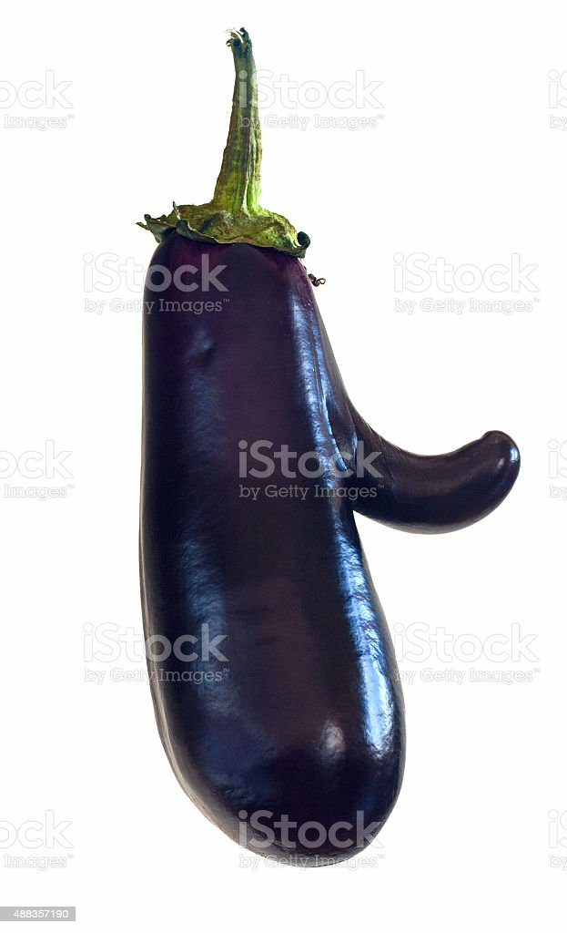 funny mutant eggplant stock photo