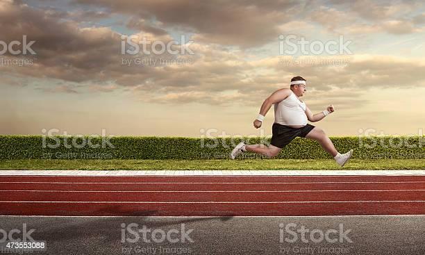 Photo of Funny nerd on the run