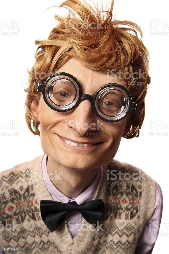 Funny nerd stock photo
