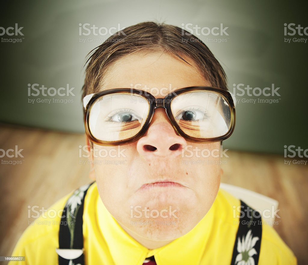 Funny nerd. royalty-free stock photo
