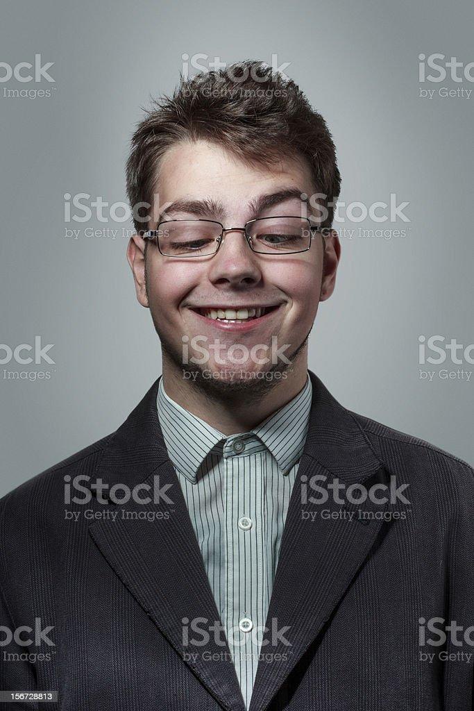 Funny nerdy guy royalty-free stock photo