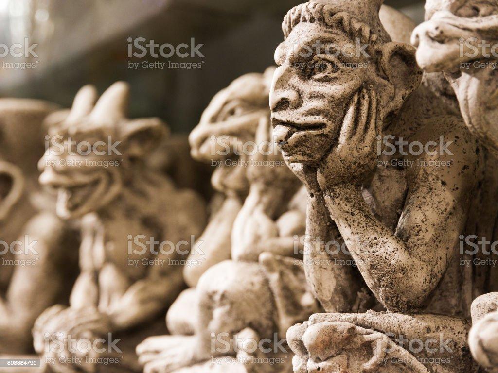 Lustige Notre Dame Gargouille Monster Keramische Souvenirs Auf Dem