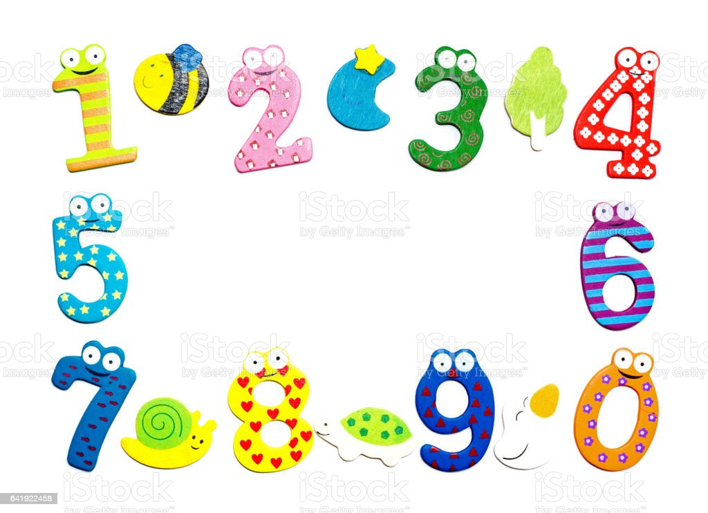 Funny number isolated on white background stock photo