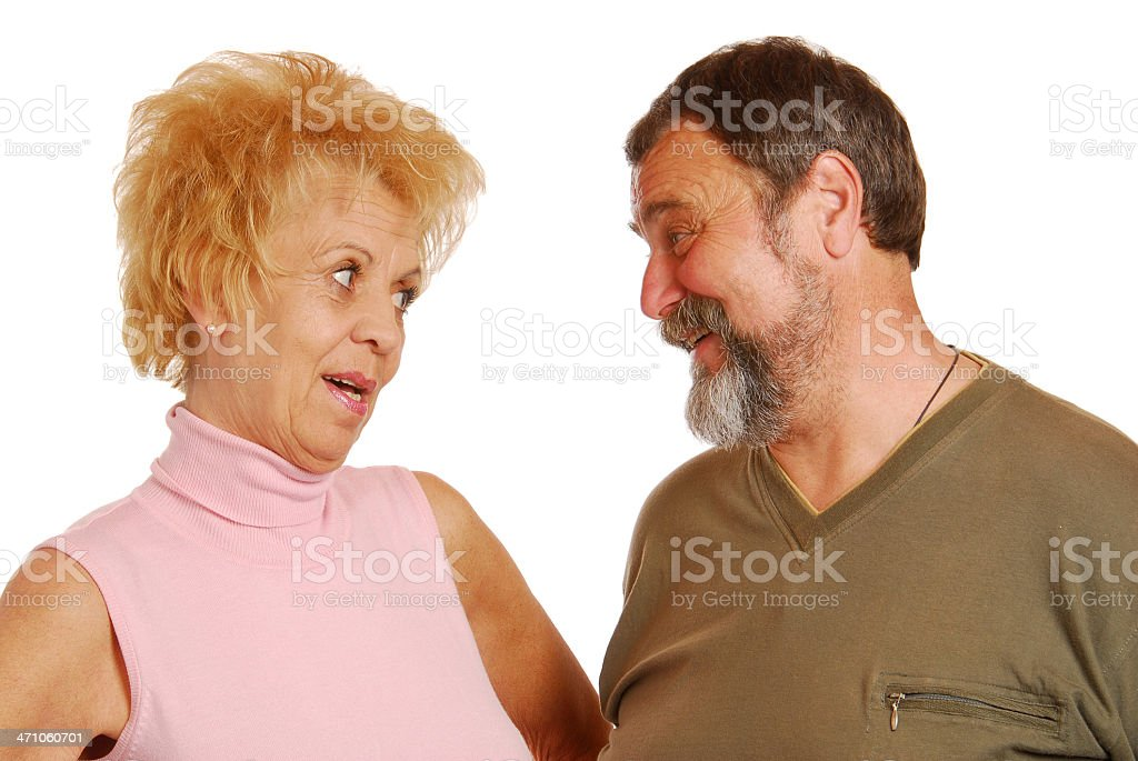 Funny old couple royalty-free stock photo