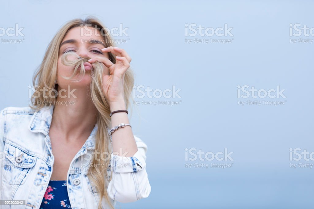 Funny or Not, Here's how I would look with a mustache. stock photo