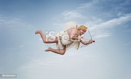 istock Funny overweight cupid 504304534