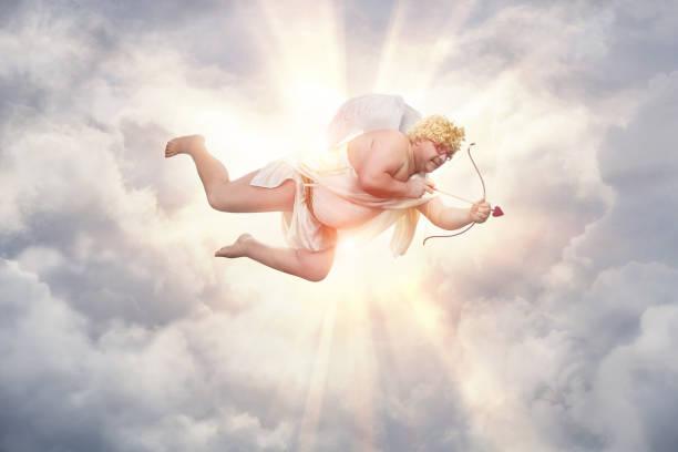 komik kilolu aşk tanrısı - peri hayali karakter stok fotoğraflar ve resimler