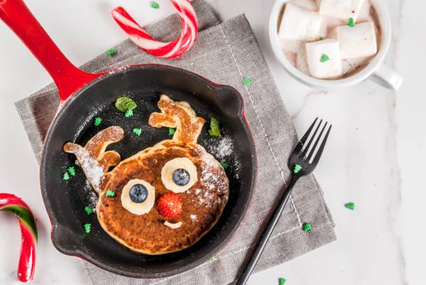 Lustige Pfannkuchen für Weihnachten – Foto