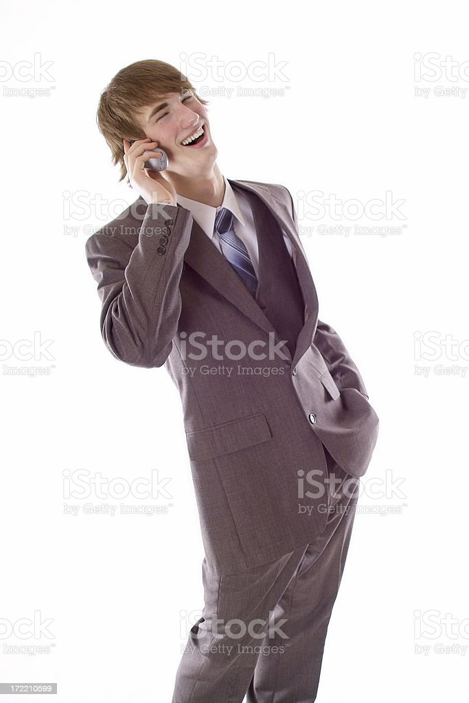 Funny Phone Call stock photo