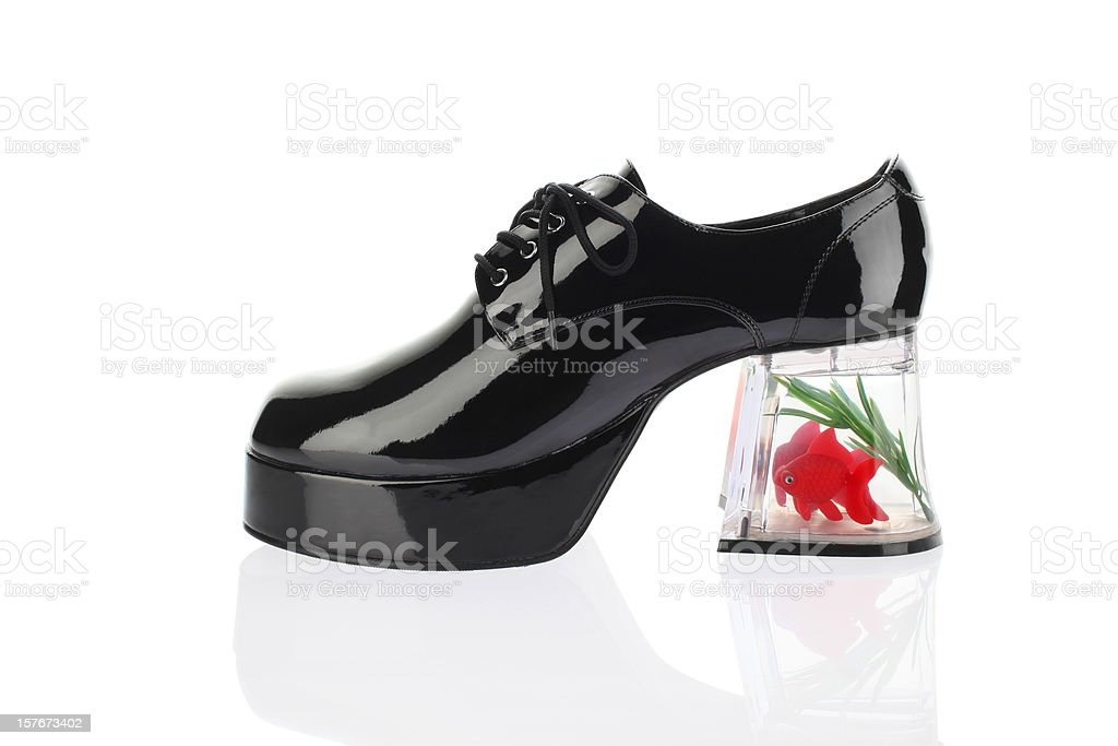 Funny Platform Shoe stock photo
