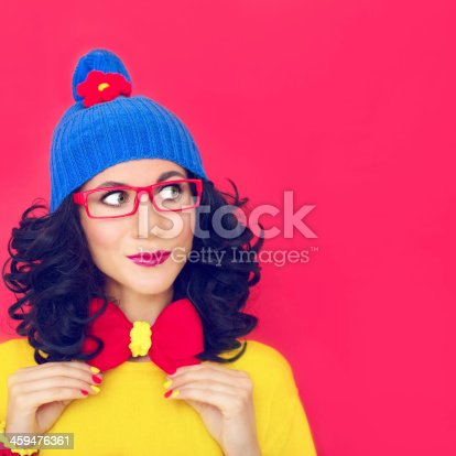 istock funny portrait a girl 459476361