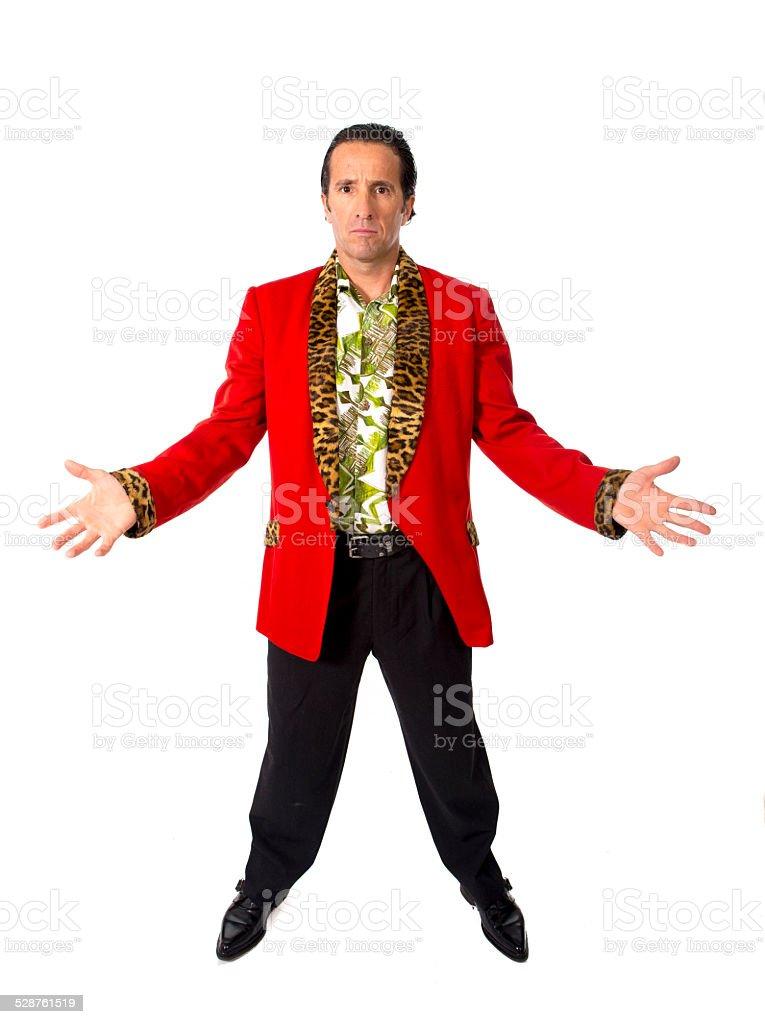 funny rake playboy mature pimp man posing gigolo alike stock photo