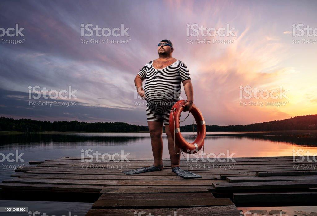 Witzige Retro-Schwimmer – Foto