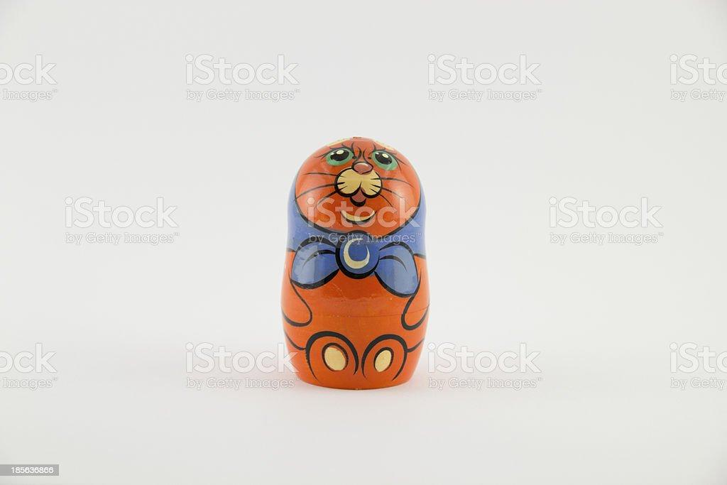 Funny russian nested doll (matryoshka doll) royalty-free stock photo