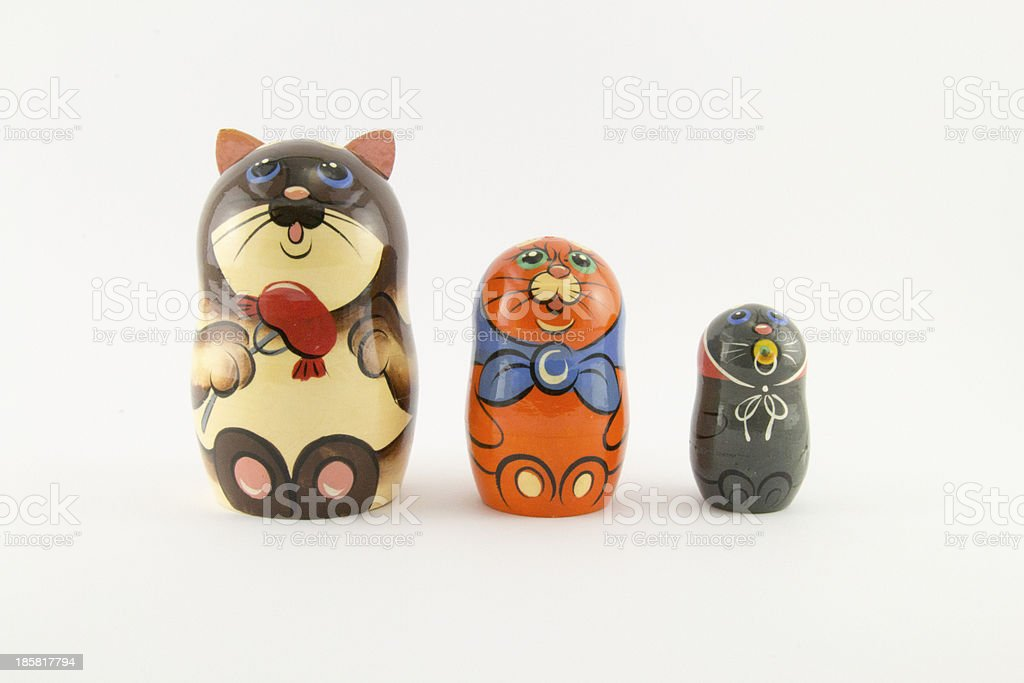 Funny russian nested doll (matryoshka doll) royalty-free stock photo