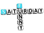 3D Funny Saturday Crossword