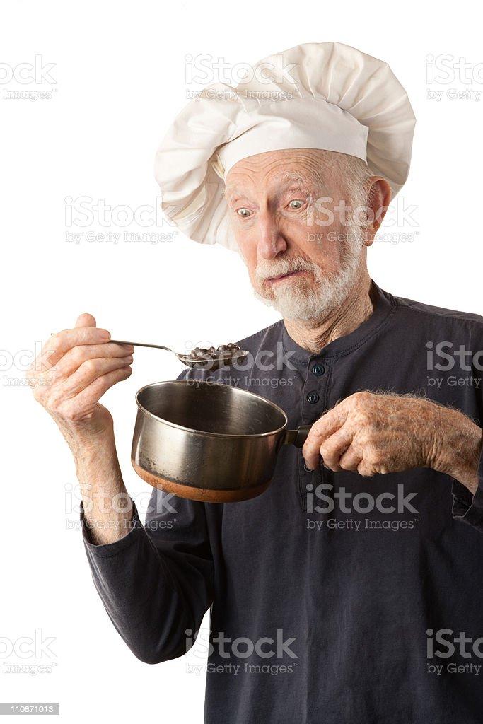 Funny senior chef royalty-free stock photo