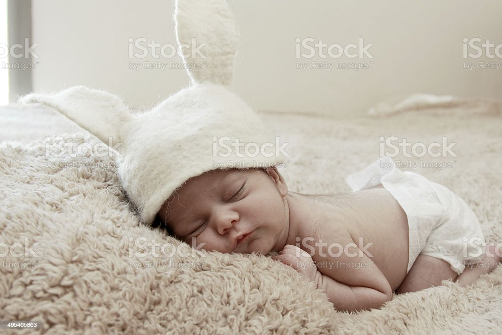 Funny Sleeping Newborn Baby Stock Photo Download Image Now Istock
