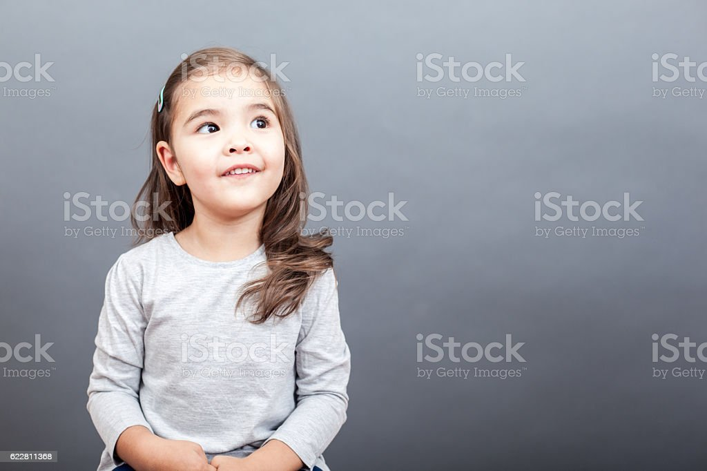 Funny Small Girl stock photo