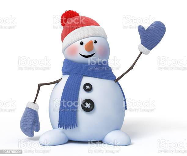 Funny snowman with a blue scarf waves on a white background 3d render picture id1035766094?b=1&k=6&m=1035766094&s=612x612&h=pulzll0xaa4wf v6cgb0uk6wh31zkxvythv7kgmyrig=
