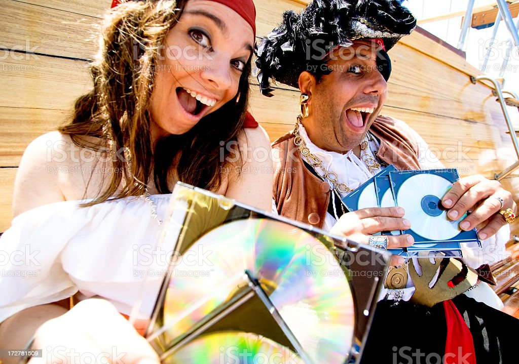 funny software pirates stock photo