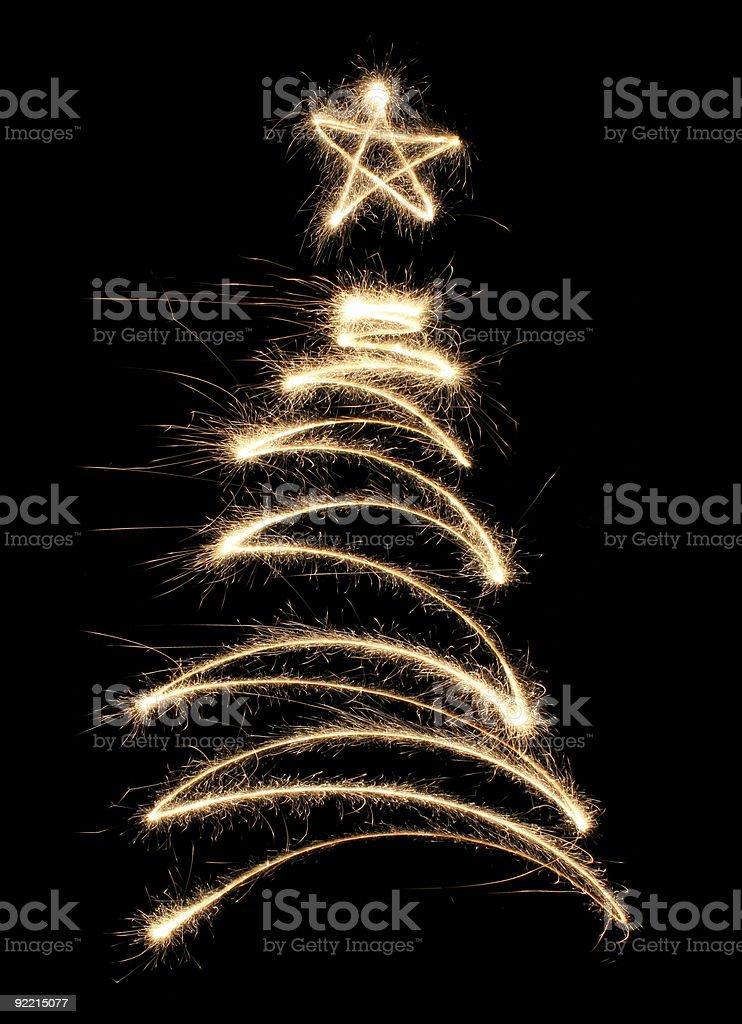 funny sparkler tree royalty-free stock photo
