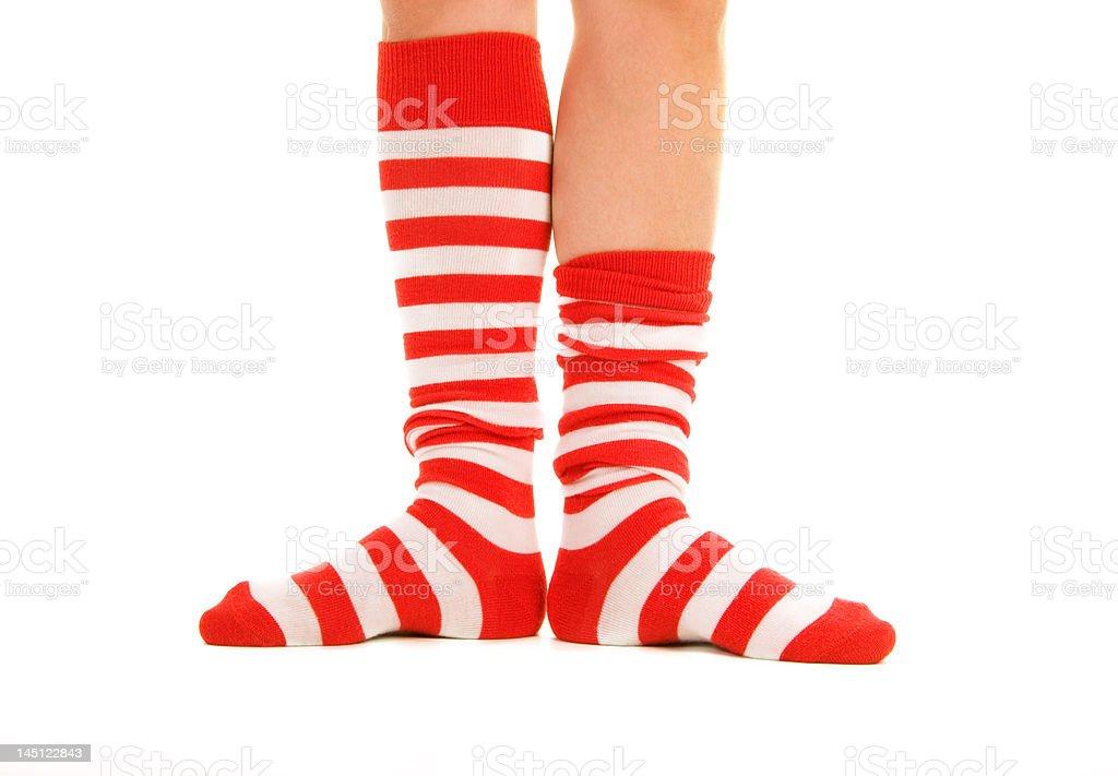 funny striped socks royalty-free stock photo