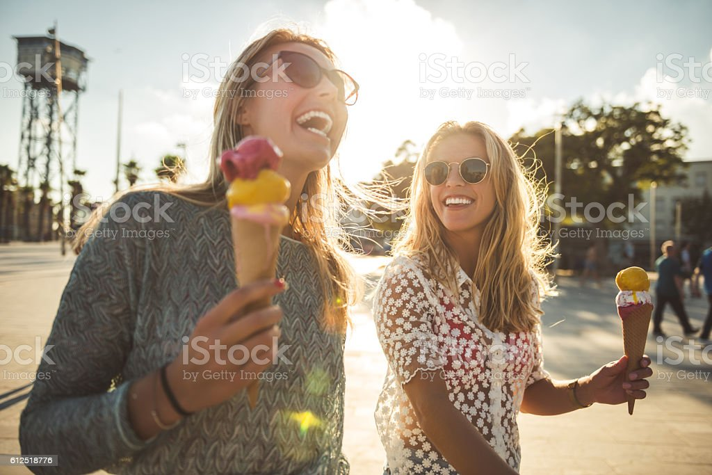 Funny summer day stock photo