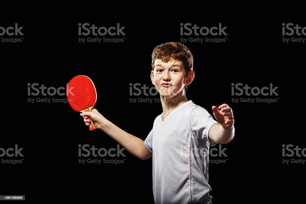 Lustiger table tennis player – Foto
