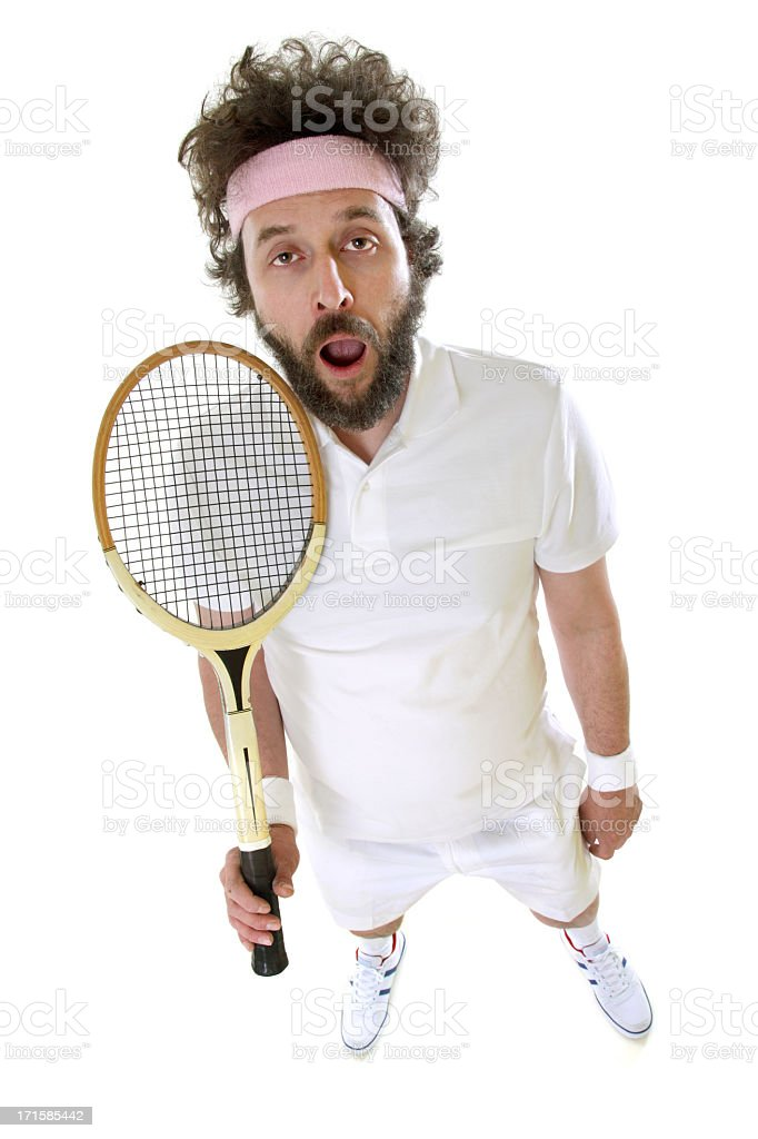 Funny Tennis Player - Bored royalty-free stock photo