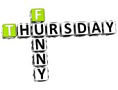 3D Funny Thursday Crossword