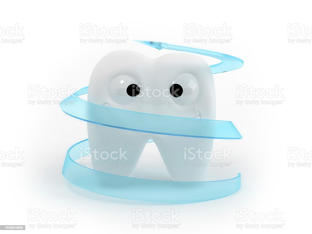 funny tooth royalty-free stock photo