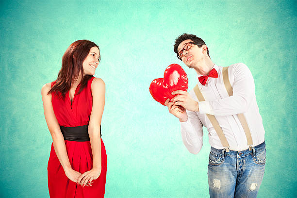 funny valentine's day - love at first sight stock photos and pictures