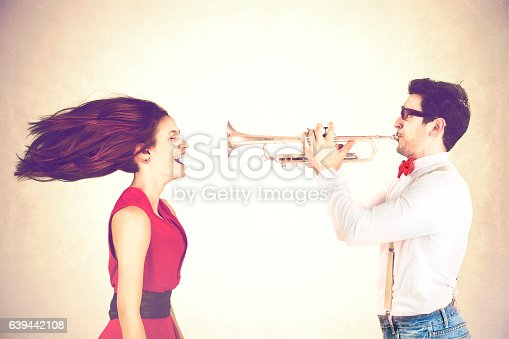 istock Funny Valentine's Day, series of different approaching acts 639442108