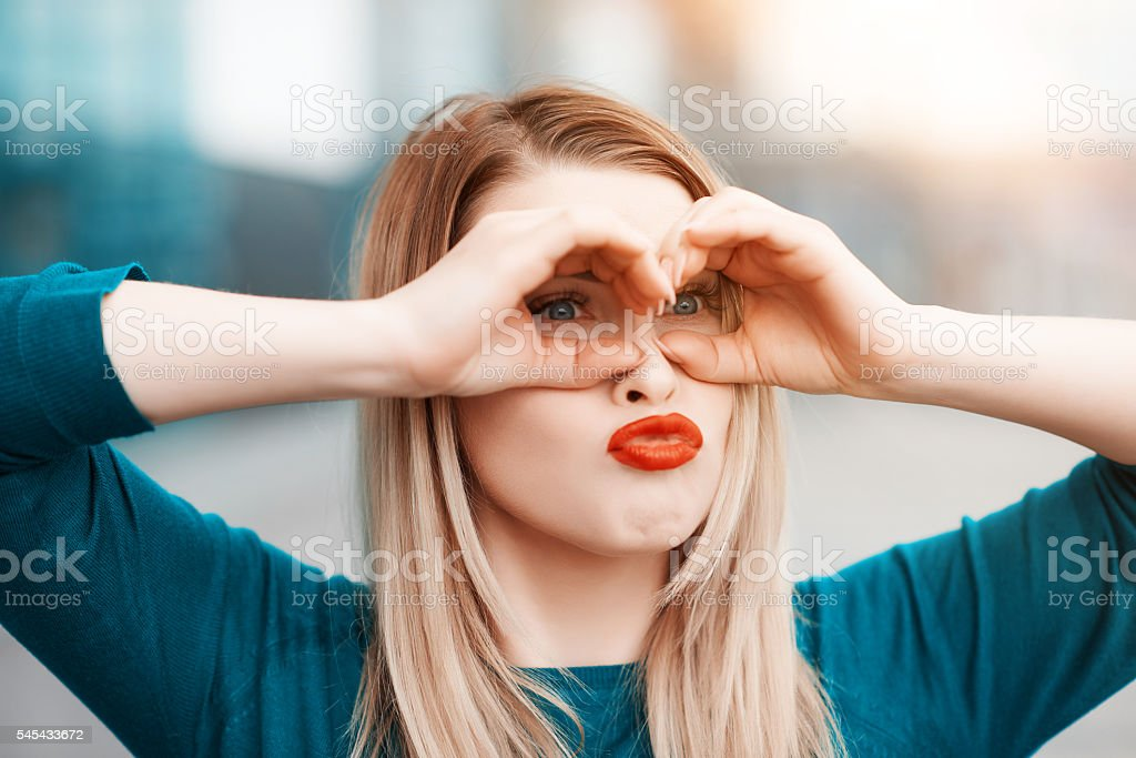 funny vision stock photo