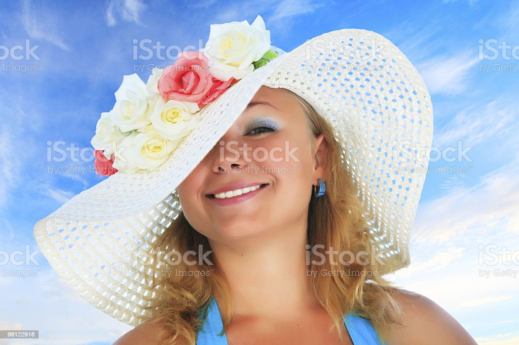 Funny woman royalty-free stock photo