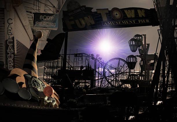 funtown - horror zirkus stock-fotos und bilder