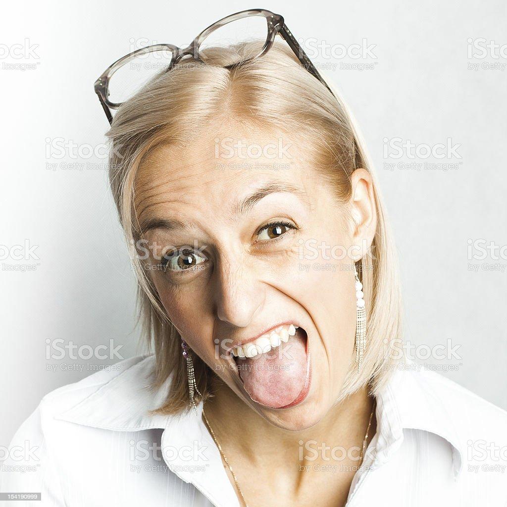 Funy face royalty-free stock photo