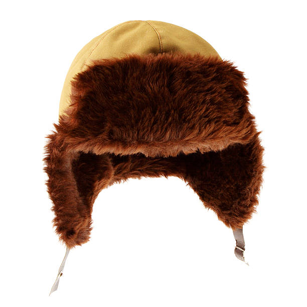 Fur cap. stock photo