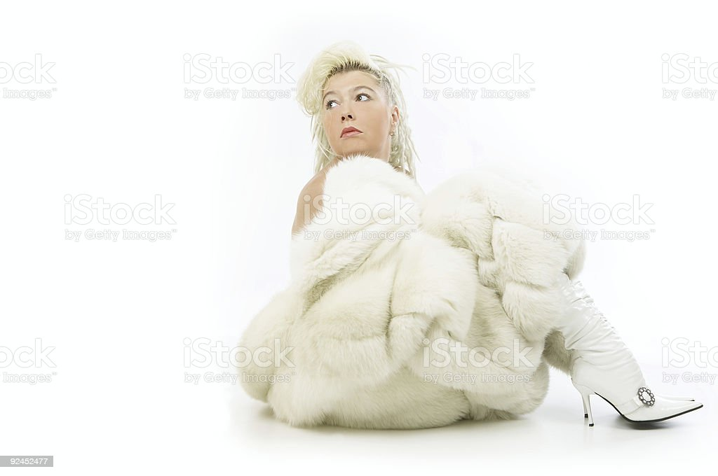 Fur Coat royalty-free stock photo