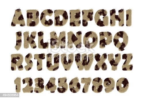 491530224istockphoto Fur font collection. Alphabet set made of wool 494503954