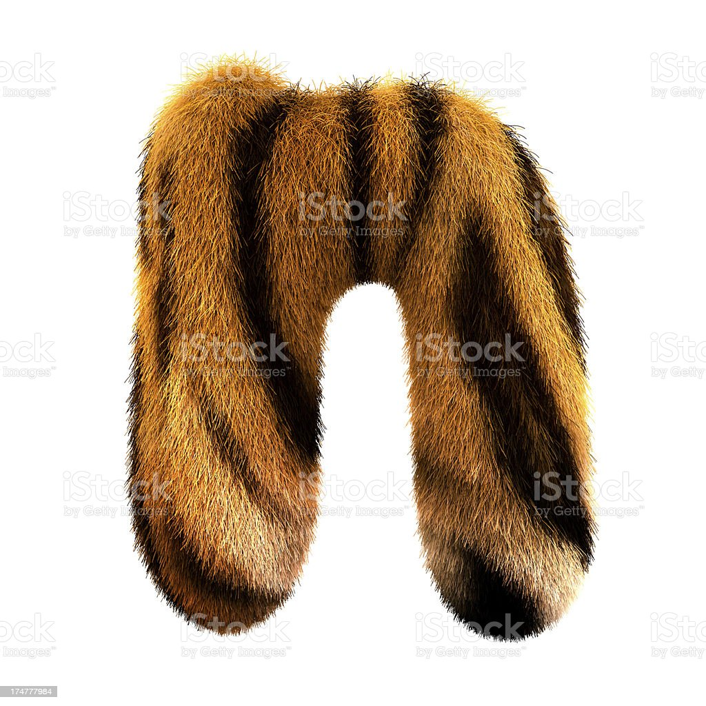 Fur letter N royalty-free stock photo