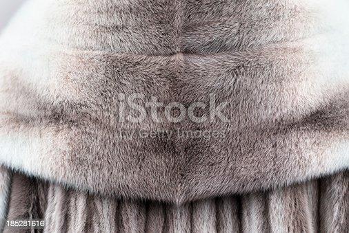 Detail image of genuine fur coat