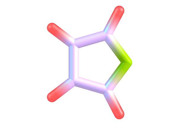 furan structure moléculaire sur fond blanc - éther photos et images de collection